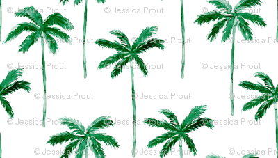 (jumbo scale) watercolor palm tree - green