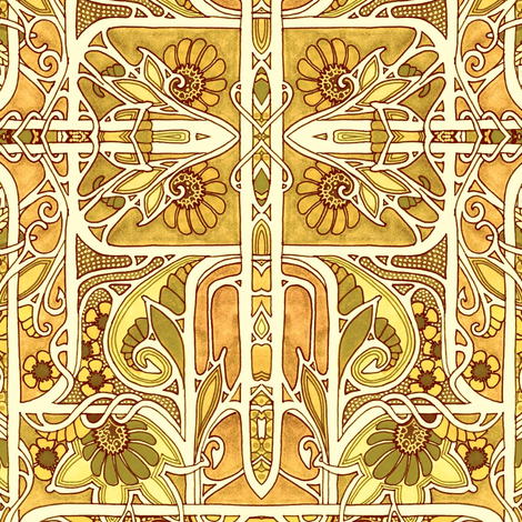 In the Simmering Summer Sun fabric by edsel2084 on Spoonflower - custom fabric