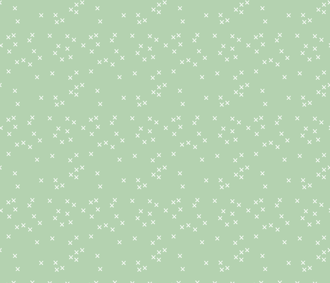 Basic geometric raw brush crosses pattern mint SMALL fabric by littlesmilemakers on Spoonflower - custom fabric