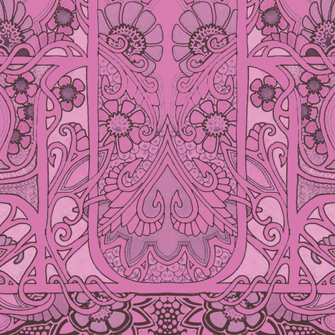 Big Pink Thistle Color Slink fabric by edsel2084 on Spoonflower - custom fabric
