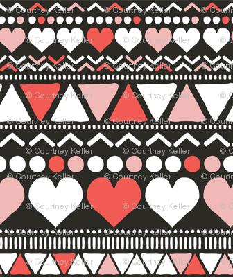 Fair Isle Folk Pattern - Dusty Pinks