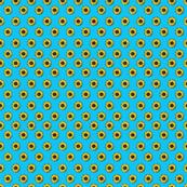 sunflower polka-dots blue smaller