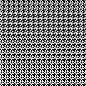 hounds tooth of the dead black and white small