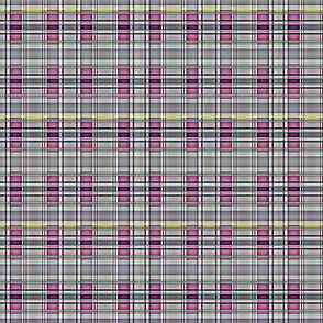 Bearded Lady scale plaid - pink and grey