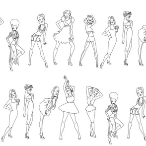 Bearded Ladies - colourable