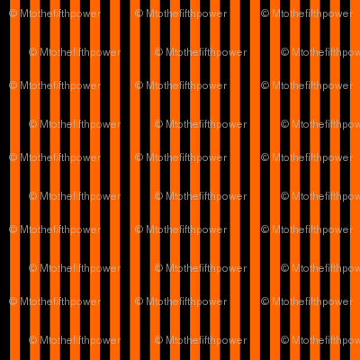 Black and Orange Vertical Stripes (Six Stripes to an Inch)