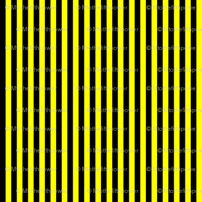 Black and Yellow Vertical Stripes (Six Stripes to an Inch)