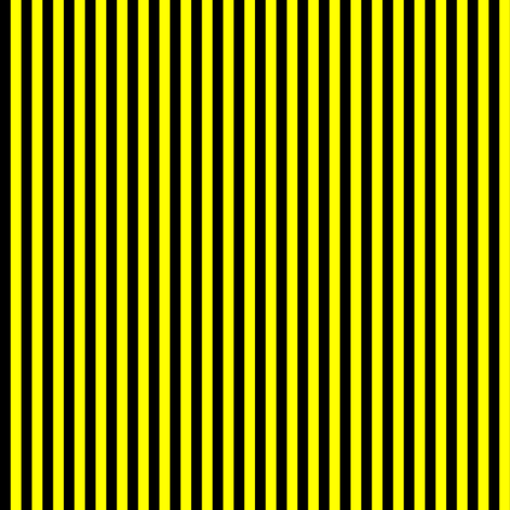Black and Yellow Vertical Stripes (Six Stripes to an Inch) fabric by mtothefifthpower on Spoonflower - custom fabric