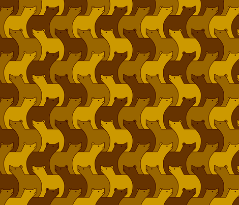 07024749 : 3 brown bears fabric by sef on Spoonflower - custom fabric