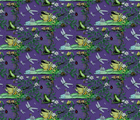 Susan's Lizard's, insects and frogs. fabric by fickleinceptionofardor on Spoonflower - custom fabric
