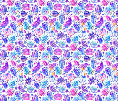 Vibrant Trilobita fabric by miranema on Spoonflower - custom fabric
