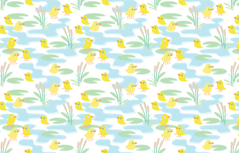 four legged duck pond fabric by kauaidrygoods on Spoonflower - custom fabric