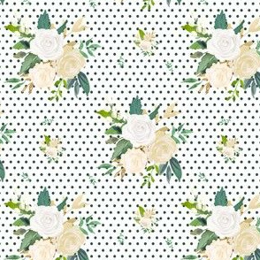 "4"" Brooklyn Rose / Green Polka"