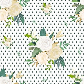 "8"" Brooklyn Rose / Green Polka Dots"
