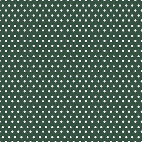 "8"" White Polka Dots / Green Background / Mix & Match Brooklyn Rose"
