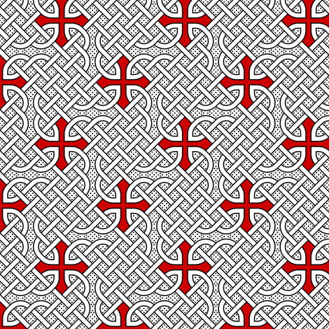 07025131 : celtic knot dot tattoo fabric by sef on Spoonflower - custom fabric