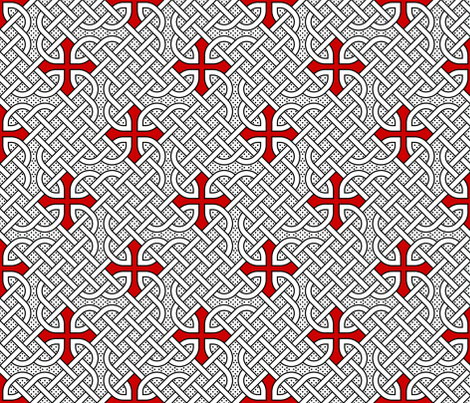 celtic knot dot tattoo fabric by sef on Spoonflower - custom fabric