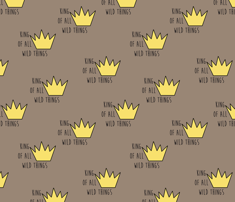 Wild King fabric by evirose_designs on Spoonflower - custom fabric