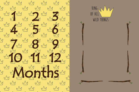 wild things milestone blanket fabric by evirose_designs on Spoonflower - custom fabric