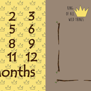 wild things milestone blanket