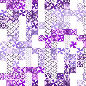 Tapa Tuesday Purple on white