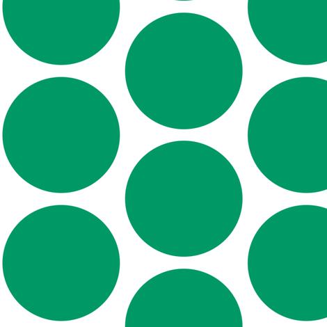 Christmas Howdy: White Polka Dot On Green fabric by tallulahdahling on Spoonflower - custom fabric