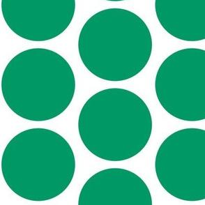 Christmas Howdy: White Polka Dot On Green