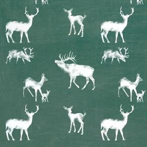 Chalkboard Deer