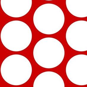 Christmas Howdy: Polka Dot White on Red