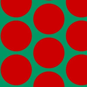 ChristmasHowdy: Polka Dots Red On Green