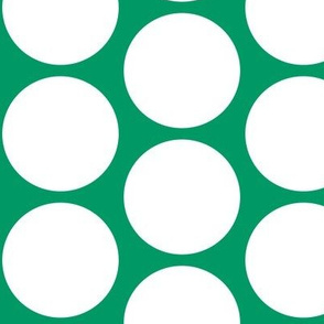 ChristmasHowdy: Polka Dots White On Green