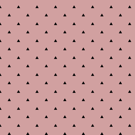Tiny Triangles - Black Pale Mauve fabric by kimsa on Spoonflower - custom fabric