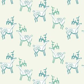 Scandinavian style deer on cream