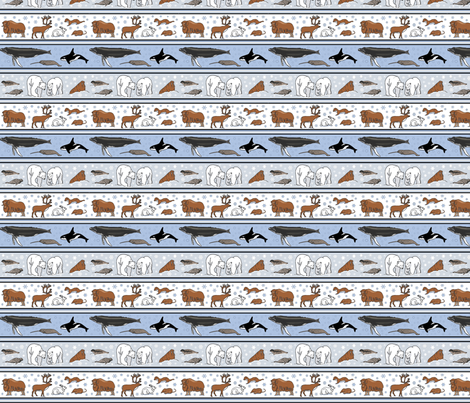 arctic stripe l 4x4 fabric by leroyj on Spoonflower - custom fabric