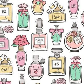 Perfume Bottles on White