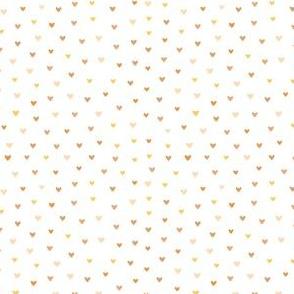 Mini Bronze Hearts // X-Small Scale