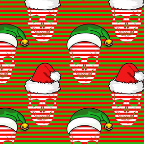 chrismas skull stripe pattern