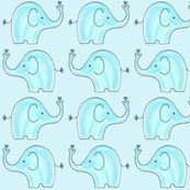 Small Aqua Two Way Elephants