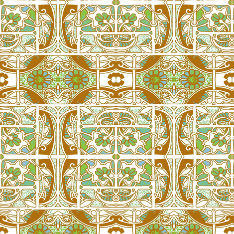Green and Brown Gardening fabric by edsel2084 on Spoonflower - custom fabric