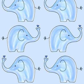 Small Blue Two Way Elephants