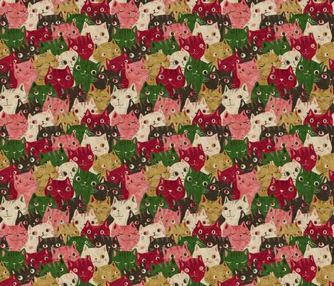Christmascats fabric by gaiamarfurt on Spoonflower - custom fabric