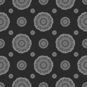 Grayscale floral repeat 45