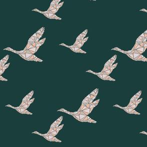 multiple marble bird print
