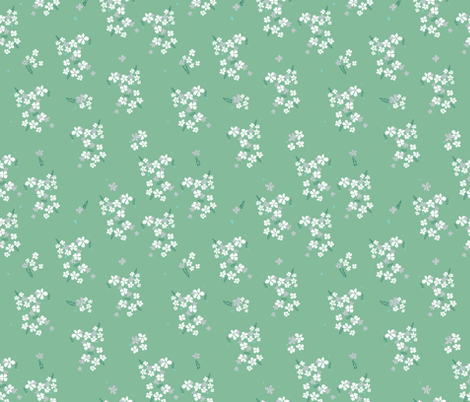 small floral fabric by t_textile_design on Spoonflower - custom fabric