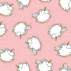 Chubby Unicorns- Pink