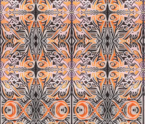Orange Creme fabric by amaizink_art on Spoonflower - custom fabric