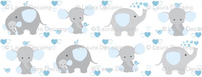 Elephant Nursery Blue Boy