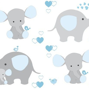 Elephant Nursery Blue Boy