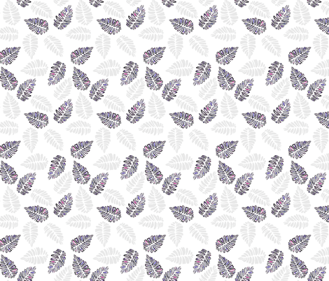 tropical leaves fabric by t_textile_design on Spoonflower - custom fabric