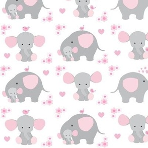 Elephant Pink Floral Girl Nursery
